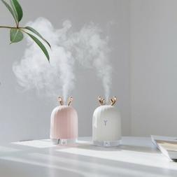 Cactus Air Purifier Freshener Cool Mist Oil Desk LED Light A