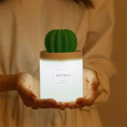 Cactus Mini Cool Mist Humidifier with Night Light 280ml USB