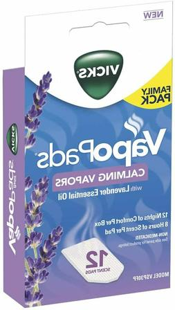 Vicks Calming Lavender VapoPad Family Pack, 12 Count…
