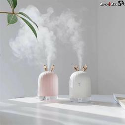220ML LED Mini Humidifier Cute Essential Oil Diffuser Air Pu