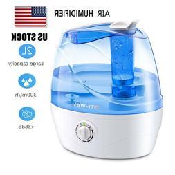 Cool Mist Humidifier 2.2 Liters  Ultrasonic Quiet Bedroom Of