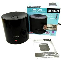 Holmes Cool Mist Ultrasonic Cylinder Humidifier Black Small