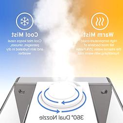 Cool Mist Ultrasonic Humidifiers Vaporizer With Remote Humid