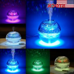 Crystal Colorful Night Light Oil Aroma Diffuser LED Ultrason