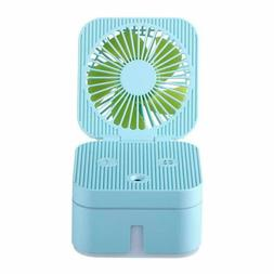 Deluxe Mini Portable Spray Fan Water Humidifier Usb Desk Qui