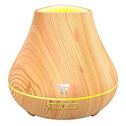 TaoTronics Essential Oil Diffuser, 400ml Wood Grain Aroma Di