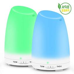 2PACK Essential Oil Diffuser, Ms Kelly 120ml Aromatherapy Di