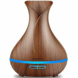 URPOWER Essential Oil Diffuser 400ml Wood Grain Aromatherapy