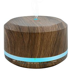 450ml Diffusers for Essential Oils, Wood Grain Aromatherapy