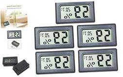 EEEKit 5-Pack Mini Thermometer Hygrometer, Small LCD Digital