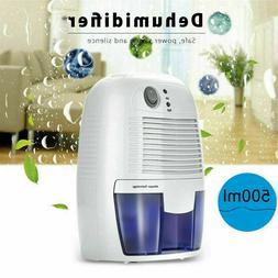 Electric 500ml Home Air Dehumidifier Quiet Moisture Absorber
