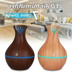 Essential Oil Aroma Diffuser Aromatherapy LED Ultrasonic Hum