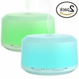 Essential Oil Diffuser 2 Pack 450ml Aromatherapy Diffusers U