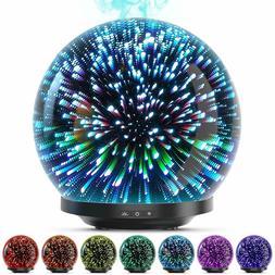 Essential Oil Diffuser 3D Glass 200ML Galaxy Ultrasonic Arom