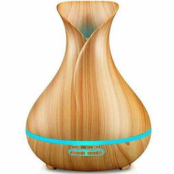 URPOWER Essential Oil Diffuser, 400ml Wood Grain Cool Mist B