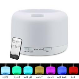 Essential Oil Diffuser 500ML Air Aroma 7 LED Ultrasonic Arom