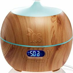 Essential Oil Diffuser and Humidifier with Bluetooth Speaker