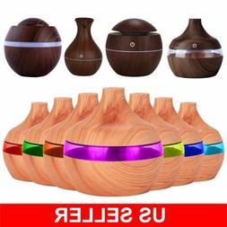 Essential Oil Diffuser Humidifier Aromatherapy Wood Grain Va