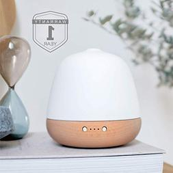 ZEIGGA LAB Essential Oil Diffuser, Ceramic and Real Solid Wo
