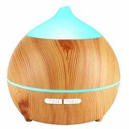 Essential Oil Diffuser Wood Grain Diffuser Cool Mist Humidif