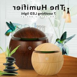 Essential Oil LED Night Light Air Purifier USB Humidifier 7