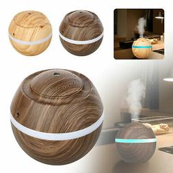 Essential Oils Diffusers Wood Grain 500ml Mist Humidifier w/