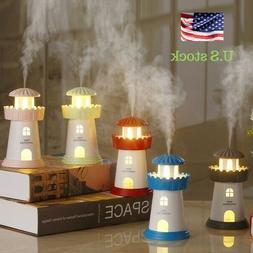 Fashion Creative Lighthouse Humidifier Mini Night Light Mute