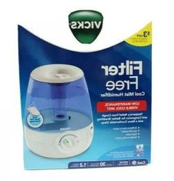 Vicks Filter Free Cool Mist Humidifier 1.2 Gallon