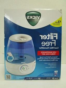 VICKS FILTER FREE COOL MIST HUMIDIFIER MEDIUM ROOM 1.2 GALLO