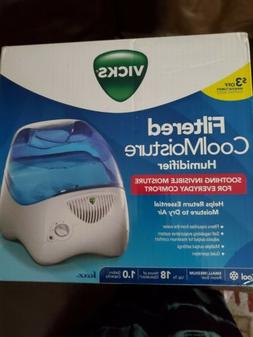 VICKS FILTERED COOL MOISTURE HUMIDIFIER SMALL MEDIUM 1.0 GAL