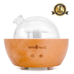 Daroma Glass Dome Essential Oil Diffuser,200ml Real Wood Bas