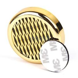 Gold Round Tobacco Cigar Humidifier w/ Sticker for Travel Ca