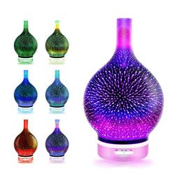Gradient Night Light Aroma Diffuser Humidifier for Home Bedr