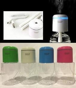 Green Portable Steam USB Humidifier Cap Air Mist Diffuser LE