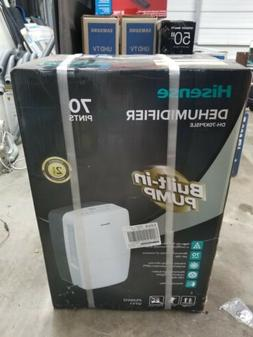 Hisesne Dehumidifier 2 Speed 70 Pint Built-in Pump Energy St