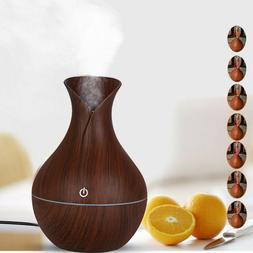 Home Aroma Essential Oil Diffuser Wood Grain Ultrasonic Arom