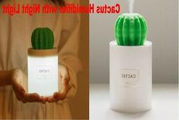 Humidifier with Night Light for Bedroom Aromatherapy Cactus
