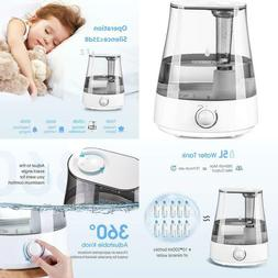 Homasy Humidifiers With 5L Ultrasonic Large Capacity, Cool M