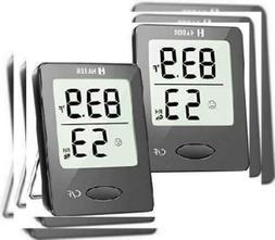 Habor 2 Pieces Digital Hygrometer Indoor Thermometer, Mini R