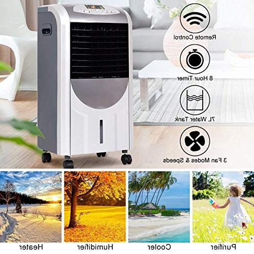 LHONE 5 1 Compact Air Air and Heater with Fan Ice Remote Control