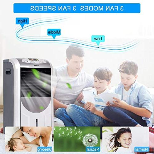 LHONE 5 in 1 Compact Portable Air Air with Filter Ice Crystal Box Control