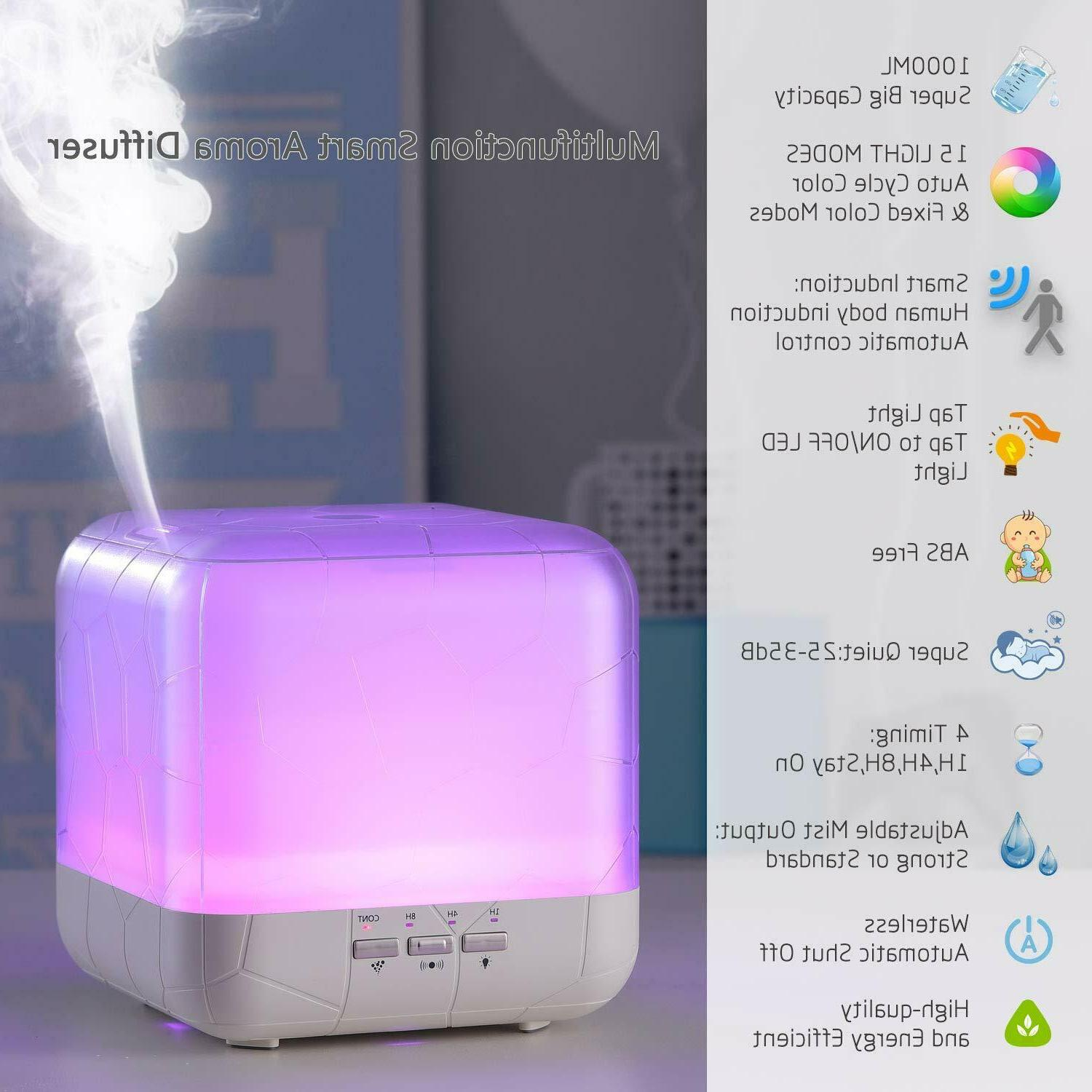 1000ml Smart Essential oils diffuser Humidifier for Large Ro