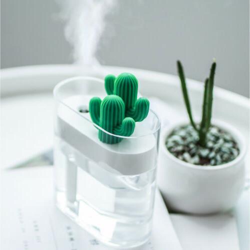 160ml ultrasonic air humidifier cactus light usb