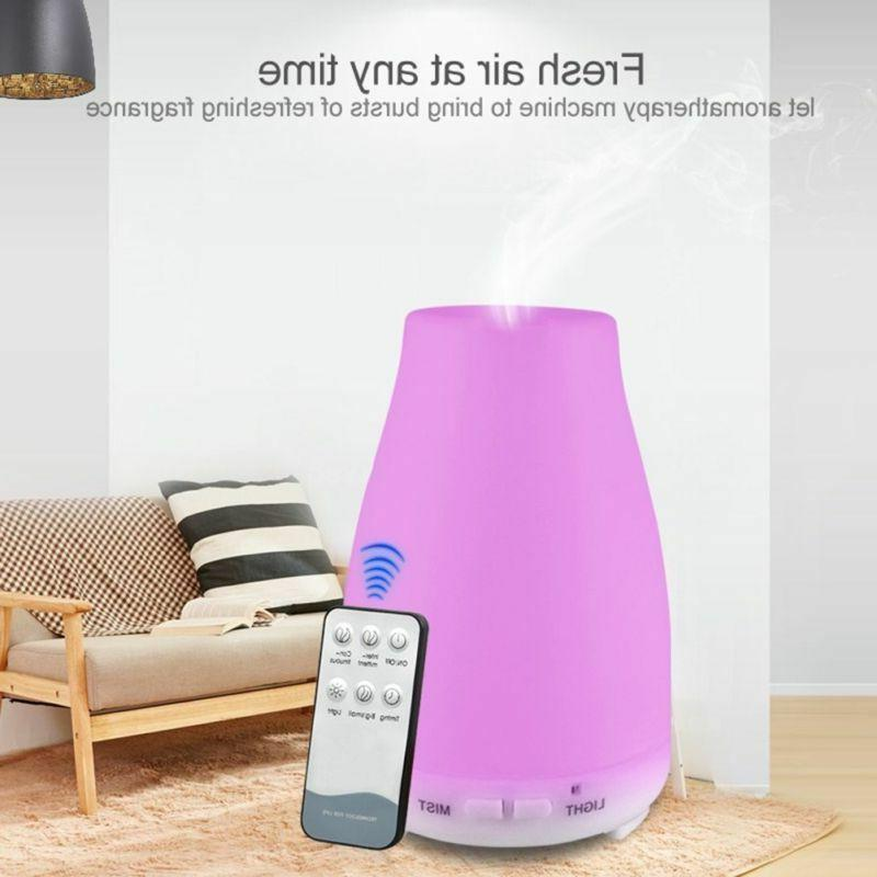 200ML Remote Control 7 Colors LED Ultrasonic Essential Oil