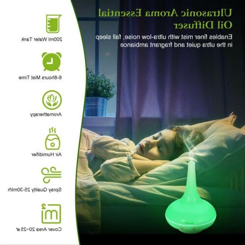 200ML Ultrasonic Aroma Humidifier Air Lonizer Atomizer