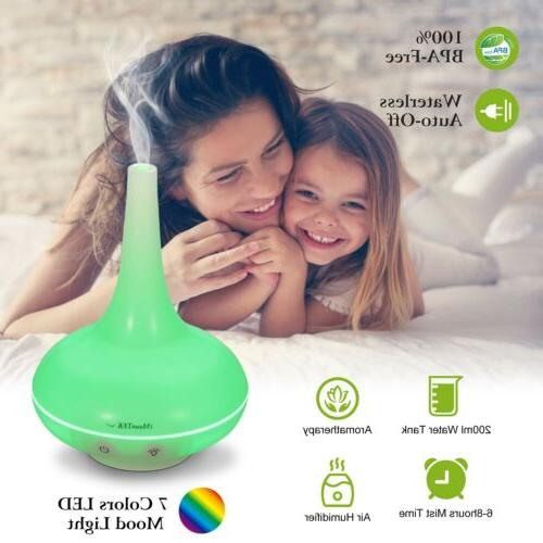 200ml ultrasonic home aroma humidifier air diffuser