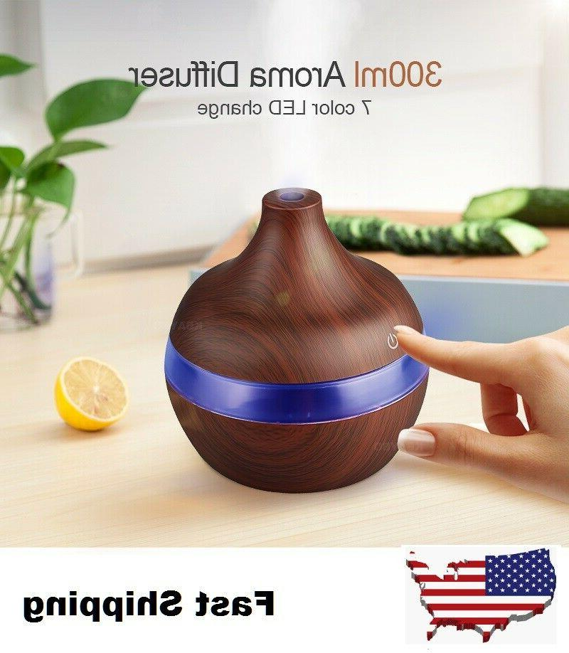 2018 electric aroma diffuser wood ultrasonic humidifier