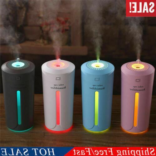 230ml portable usb led light air humidifier