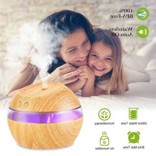 290ml USB Purifier Ultrasonic Aroma Humidifier