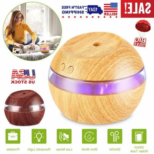 290ml usb led purifier ultrasonic aroma diffuser